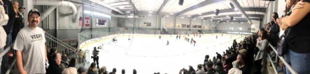 Standing room only crowd at City National Arena