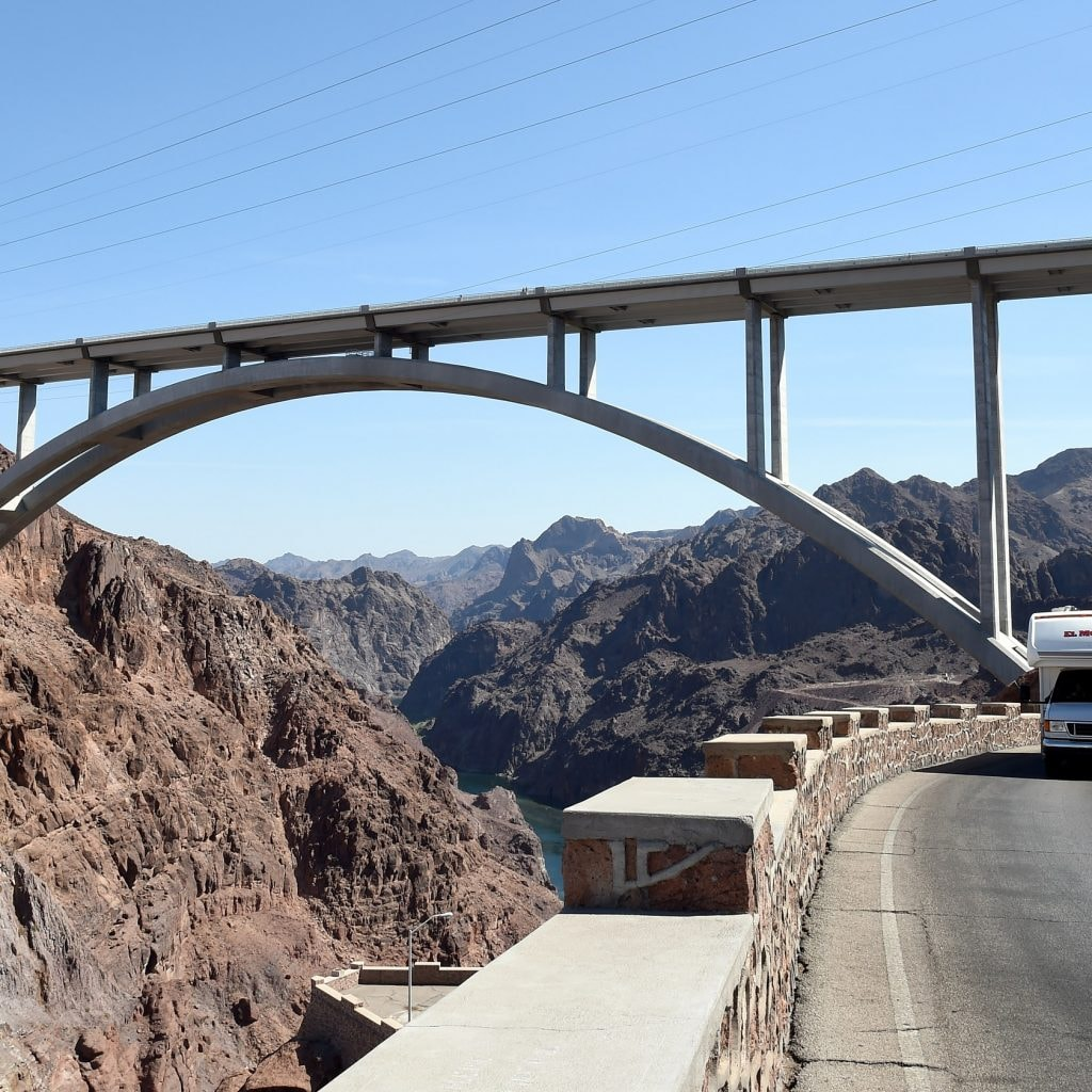 Hoover Dam Bypass Bridge, Highways Closed